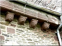 SO4430 : Corbels on Kilpeck Church by Oliver Dixon