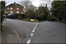 TQ5742 : Kibbles Lane, Manor Rd junction by N Chadwick
