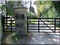SP2527 : North entrance to Daylesford Estate by Nick Barber