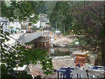 NY4624 : The temporary pedestrian bridge - gone! by Michael Earnshaw