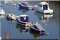 SX4953 : Boats moored on Hooe Lake by Stephen McKay