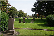 NZ4037 : Cemetery at Holy Trinity Church, Wingate by Ian S