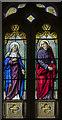 ST7851 : Enamel painted window, All Saints' church, Lullington by Julian P Guffogg