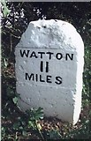 TG0705 : Old Milestone (north face) by the B1108, Norwich Road, Kimberley Parish by CW Haines