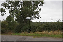 NZ3419 : Road sign on Bishopton Lane by Ian S