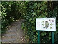SO9596 : Peascroft Wood Sign by Gordon Griffiths