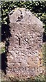 TG0934 : Old Milestone (west face) by the B1149, Norwich Road, Edgefield by CW Haines