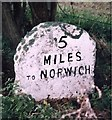 TG2815 : Old Milestone (north face) by the A1151, Wroxham Road, south west of Wroxham by CW Haines