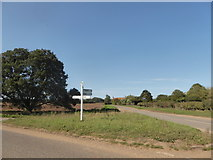 TM0235 : Constable, that's a Gainsborough: finger post at Wasses by Basher Eyre