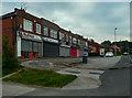 SE2534 : Parade of shops, Armley Ridge Road, Bramley by Humphrey Bolton