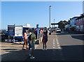 TF9143 : Local shellfish stall, Wells-next-the-Sea by Hugh Venables