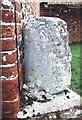 TG0911 : Old Milestone (left face) at Grange Farm off Mattishall Road, Honingham by C Haines