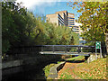 SE1416 : Canal and university, Huddersfield by Chris Allen