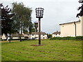 NY3254 : Beacon and Village Sign, Great Orton by Eirian Evans
