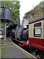 SD3484 : Haverthwaite Station - the train just arrived by Chris Allen