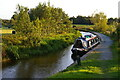 SJ3631 : Looking south from the bottom of Frankton lock 4, evening light by Christopher Hilton