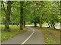 SE2834 : Woodhouse Moor: perimeter path alongside Moorland Road by Stephen Craven