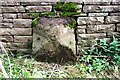 NY5438 : Boundary stone on east side of B6412 opposite Scatterbeck House by Roger Templeman