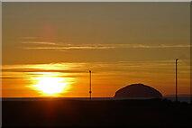 NX1897 : Sunset at Girvan by Anne Burgess