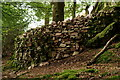 NY1404 : Stone Wall Re-built by Peter Trimming