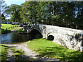 SD9962 : Pack horse bridge and ford, Linton by Chris Holifield