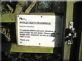 SP1572 : Hockley Heath drawbridge, operating instructions from British Waterways by Robin Stott