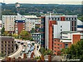 SK9671 : Brayford Way and a collection of student accommodation, Lincoln by Oliver Mills
