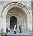 ST9387 : Malmesbury Abbey - South Porch by Colin Smith
