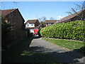 SP0167 : Footpath to Reynard Close from Hennals Avenue, Webheath, Redditch by Robin Stott