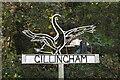 TM4191 : Gillingham village sign by Adrian S Pye