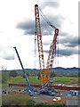 SO8551 : Huge crane by Carrington Bridge, Worcester by Chris Allen