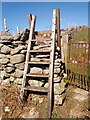 SH6267 : Stile over wall next to a locked gate, Bethesda by Meirion