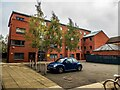 SK9671 : Internal courtyard of Hayes Wharf, Lincoln by Oliver Mills