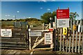 SK9670 : Gates to the railway crossing, Swanpool, Lincoln by Oliver Mills