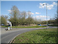 SP0167 : Roundabout at junction of Brockhill Drive and Hewell Lane, Foxlydiate, Redditch by Robin Stott