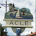 TG4010 : Acle town sign by Adrian S Pye