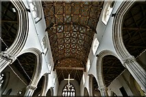 ST0207 : Cullompton, St. Andrew's Church: The magnificent nave wagon shaped roof by Michael Garlick