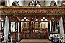 ST0207 : Cullompton, St. Andrew's Church: The screen by Michael Garlick