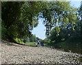 SJ6603 : Shingle river bank at Ironbridge by Mat Fascione