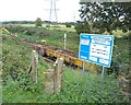 SU5296 : Works access from Thame Lane bridge to the Oxford-Didcot Railway line by Adrian Allsop