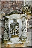 ST0207 : Cullompton, St. Andrew's Church: Sculptures on the west face of the tower 2 by Michael Garlick