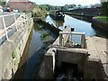 SJ8746 : Weir and sluice above Planet Lock, Caldon Canal by Christine Johnstone