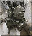 SK9771 : Lincoln Cathedral, Stone pinnacle carving  by Julian P Guffogg