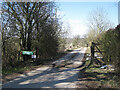 SP0167 : Private drive to Oxstalls Farm from Brockhill Drive, Foxlydiate, Redditch by Robin Stott