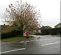ST3091 : Priority Postbox on a Malpas corner, Newport by Jaggery