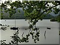 NY2622 : Boats moored on Derwentwater by Stephen Craven