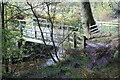 SO1103 : Footbridge, Nant Bargod Rhymni, Parc Darran by M J Roscoe