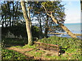 SZ6588 : Bench with a sea view, Bembridge by Malc McDonald