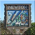 TL9140 : Newton village sign by Adrian S Pye
