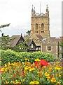 SO7745 : Malvern Priory Tower by Colin Smith